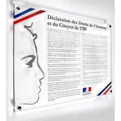 Déclaration des Droits de l'Homme en plexi 42 x 59,4 cm