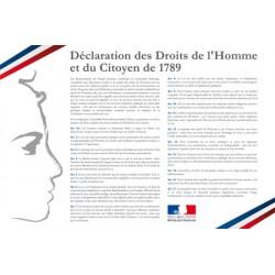 Déclaration des Droits de l'Homme en PVC opaque 42 x 59,4 cm
