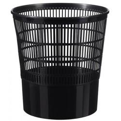 Lot de 20 corbeilles à papier noir en plastique 16 L