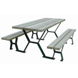 Table pique nique Provence lames sapin classe IV 240 cm
