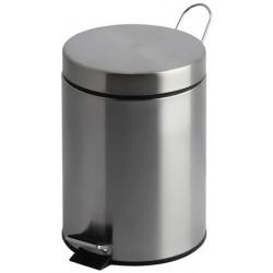 Lot de 2 poubelles à pédale inox mat 12 litres