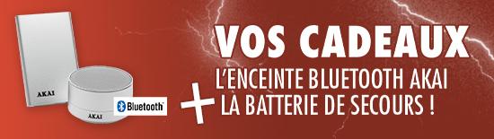 Enceinte AKAI + La batterie de secours